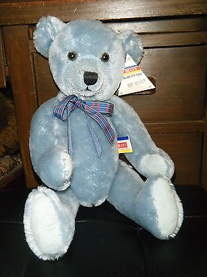"""15"""" Blue Mohair Teddy By Deans! Reduced!!!"""