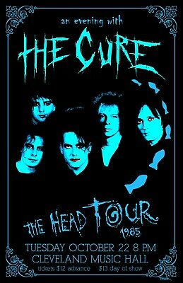The Cure 1985 Tour Poster