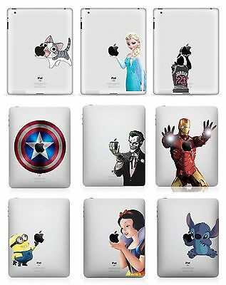Apple Ipad Air Pro Mini 1 2 3 4 Decal Skin Vinyl Disney Sticker + Free Bonus