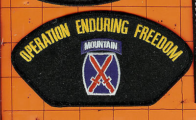 Operation Enduring Freedom   10th Mountain Division    Ball Cap  Patch