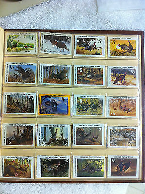1976-2013 National Wild Turkey Federation Stamps (NWTF) Collection 38 stamps