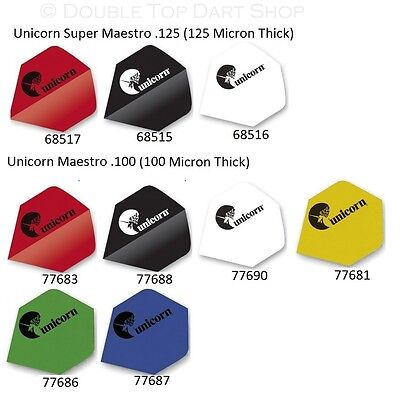 5 x Sets Unicorn Maestro Dart Flights 125 & 100 - Choose Colour and Thickness