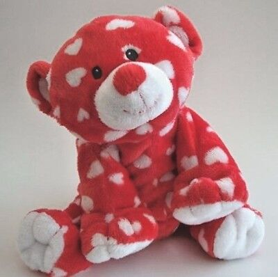Ty Pluffies Dreamly the Red White Heart Valentine Bear Cub 2011 PlushTylux MWOT