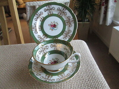 Royal  Grafton Floral Cabinet  Trio  Tea Cup &  Saucer And Plate