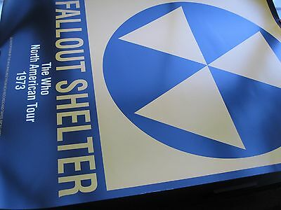 Music Poster THE WHO Fallout Shelter North American Tour 1973 20' x 27'