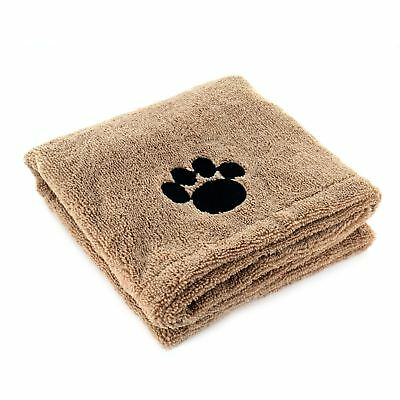 Super Absorbent Large Microfibre Pet Towel Puppy Drying Blanket 90 x 60cm