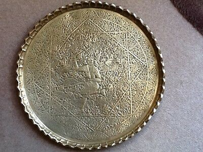 Decorative brass hanging plate