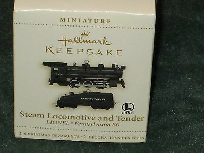 Hallmark 2006 Steam Locomotive and Tender - Lionel - Miniature Ornament - NEW