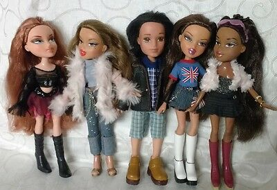Bratz Dolls Set of 5 dressed Bratz bundle, girls and boy