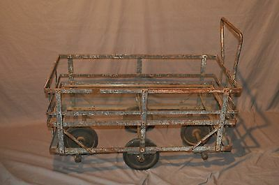 Vintage French Industrial Cart Restoration Hardware Style