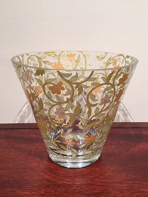 Rosenthal Glass Floral Design Crystal Vase MINT Condition 22cm Tall