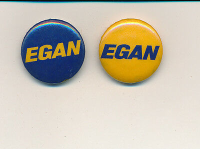 "Pair of 1958 William Egan for governor Alaska AK 1"" campaign buttons"