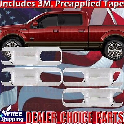 2015 2016 2017 2018 F150 F-150 Crew Cab Chrome Door Handle Bowl Plate COVERS