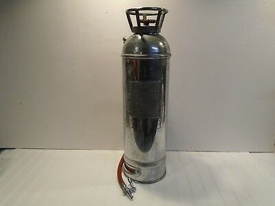 MACK Fire Extinguisher Vintage RARE Nickel Plate Copper Fire Truck Fire Engine