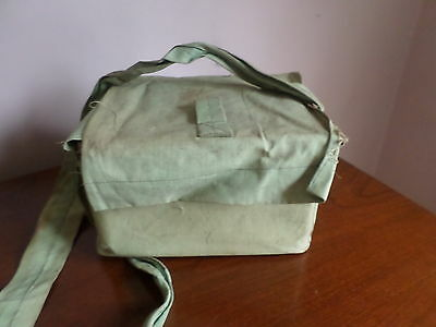 Civilian WW2 Gas Mask Original Box Canvas Holdall