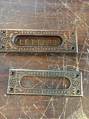L 16 Antique Cast-Iron Letter Slot In And Out