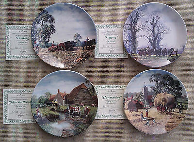 DANBURY MINT / WEDGWOOD - THE FARM YEAR - by MICHAEL HERRING - COLLECTOR'S PLATE