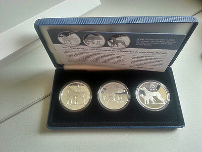 Ireland 2010, 2011,2012 Three €15 Silver Proof Coin Set Ltd 1000 Piece Only