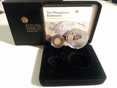 Ireland 2009 €10 & €20 The Ploughman Banknotes Silver & Gold Dbl. Proof Coin Set