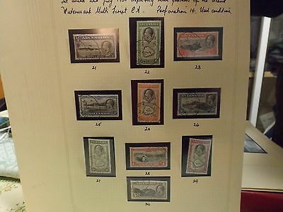 1934 Set of George Vth definitives from Ascension Island-very fine used