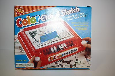 Color Etch A Sketch Vintage Toy (uses markers!) Ohio Art 1993 Very Rare