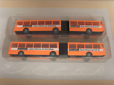 Wiking HO X 2 Buses (Bendy Bus) Brand New Boxed