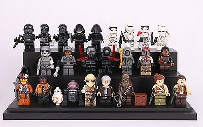 24 Mini Figures Fit With Lego Star Wars Hansolo Rey Ren Storm Clone Troopers Uk
