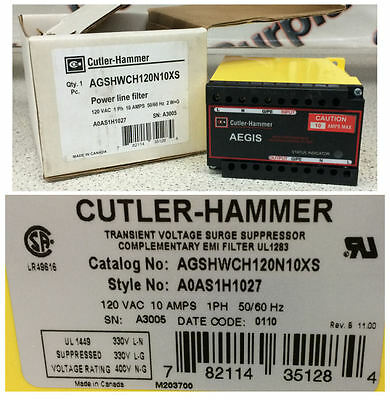 Cutler-Hammer AGSHWCH120N10XS Transient Voltage Surge Suppressor