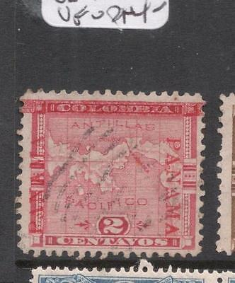 Panama SC 77 Inverted V For A At Left VFU (8dhh)