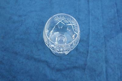 Stunning Rare Early Vintage Cut Glass Golfing Goblet