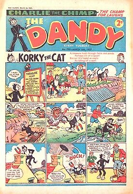 DANDY - 16th MARCH 1957 (12 - 18 MARCH) - RARE 60th BIRTHDAY GIFT !! VG+..beezer