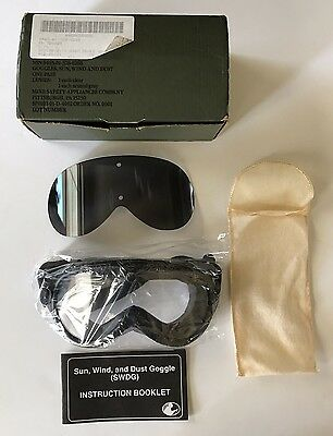 Military Goggles SWDG Sun Wind & Dust Goggles Clear & Gray Lens