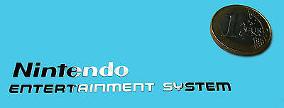 NINTENDO ENT.SYS METALISSED CHROME EFFECT STICKER LOGO AUFKLEBER 75x12mm [420]