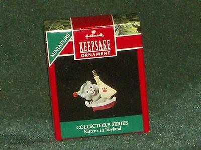 Hallmark 1990 Kittens in Toyland - Miniature Ornament - NEW