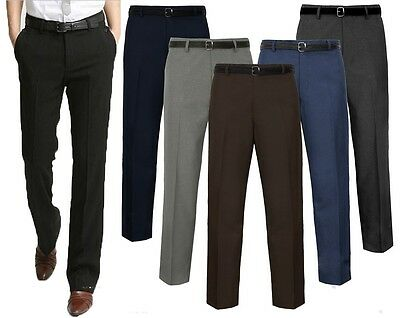 "Mens Gents Big Size Casual/Formal Trousers/Pants Waist 30-50 Leg Length 27""-31"""