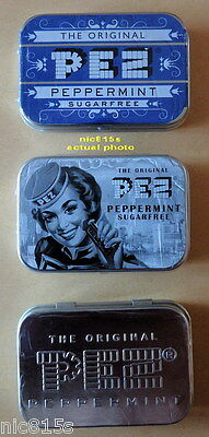 PEZ Nostalgic Metal Tins Retro Style Peppermint Candy Collectors Tins 3 X 16g