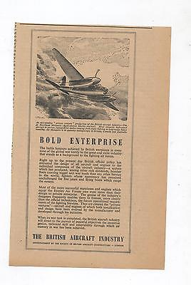 British Aircraft Advertisement removed from 1944 Newspaper De Havilland Mosquito