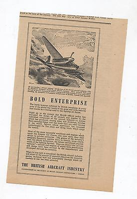 British Aircraft Advertisement removed from 1945 Newspaper De Havilland Mosquito