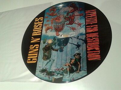 "Heavy Metal - Guns N' Roses - Appetite For Destruction 12"" VINYL PICTURE VINILO"