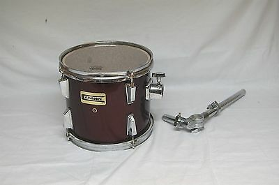 """Cannon 10"""" Tom Drum in Red with Mounting Arm"""