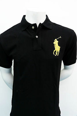 Ralph Lauren Men's shirt BIG PONY BLACK with GOLD Pony Classic Fit  NWT