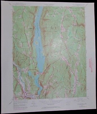 New Hartford Connecticut Farmington River vintage 1972 old USGS Topo chart