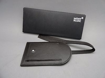 Montblanc  4060423 Dark Brown Leather Travel Luggage Tag Made In Italy