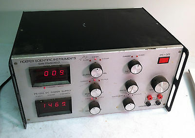 Hoefer Scientific Instruments Model PS 1200 DC Power Supply