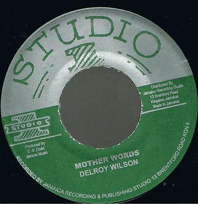 "JACKIE MITTOO - Sure Shot + DELROY WILSON - Mother Words  7"" Jamaica"