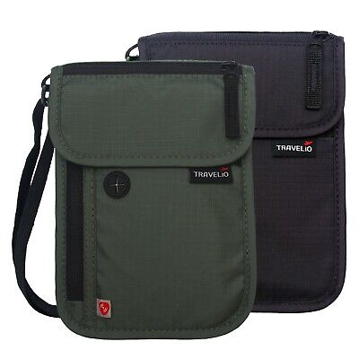 Travel Security Under Clothes Neck RFID Wallet Money Passport Document Pouch NEW