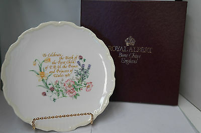 Royal Albert Prince William First Born Plate 1982
