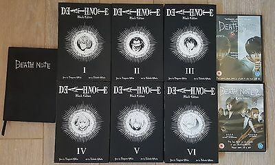 Death Note Books Full Black Collection + 2 movies + Notebook