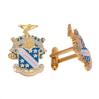 Phi Delta Theta Fraternity Colored Gold Cufflinks