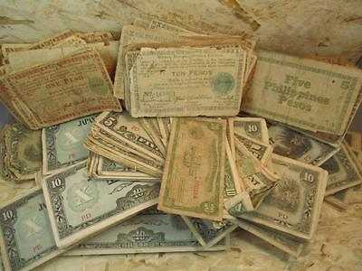 HUGE Lot of Japanese Occupation Paper Currency, 400+ Bills, PX1